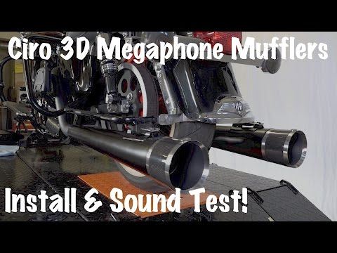 How to Install & Sound Test Ciro 3D Megaphone Mufflers-Carbon Fiber tips