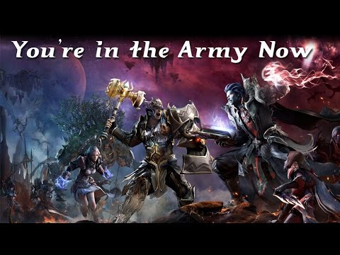 You're In The Army Now (Aion) - YouTube Элийцы