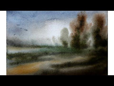 #watercolor landscape painting // watercolor landscape by Dipankar