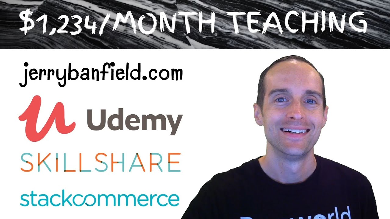 $1,234 A Month Teaching on Udemy, Skillshare, StackCommerce, and WordPress Without Filming?