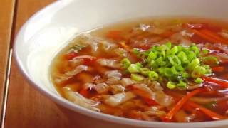 Simple Chinese Hot and Sour Vegetable Soup - Vegan Vegetarian Recipe