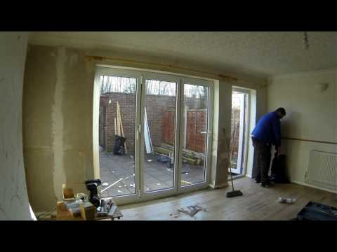 Timelapse of bi-fold door installation by Ashford Glass