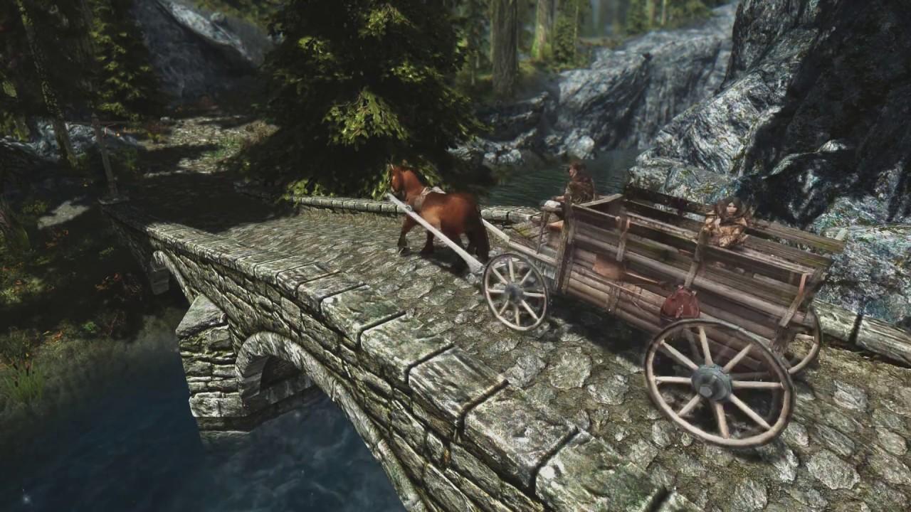 Touring carriages мод skyrim скачать