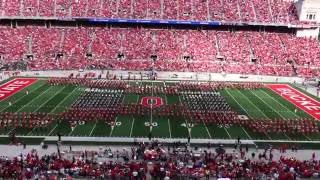 OSUMB Entire Halftime Show and Quad Script Ohio 9 12 2015 with Alumni Band