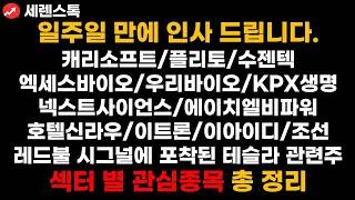 캐리소프트/수젠텍/엑세스바이오/팜젠사이언스/토박스코리아…
