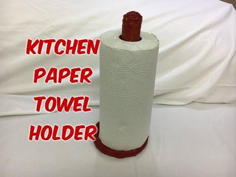 DIY   How to make Newspaper Kitchen Paper Holder