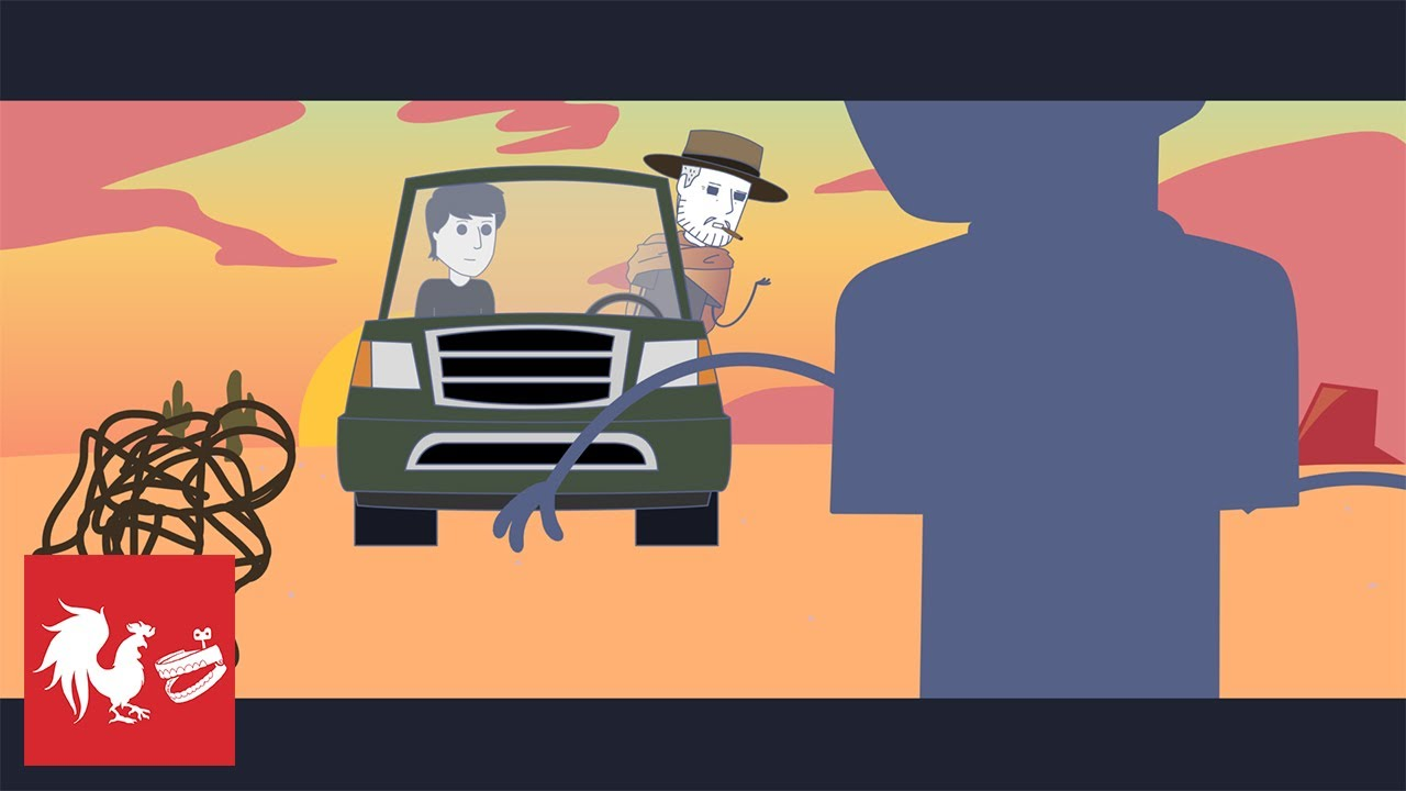 Playing Car Chicken - Rooster Teeth Animated Adventures