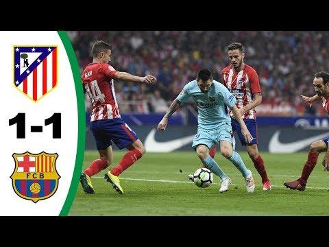 Resumen y goles Atlético Madrid 1-1 Barcelona