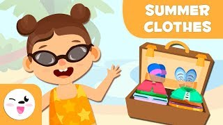 Summer clothes - Vocabulary in English for kids