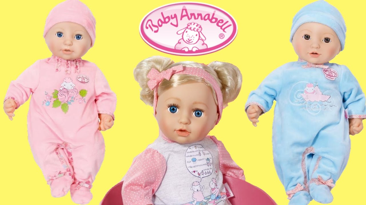 Baby Annabell And Brother And Sister Dolls Cries Tears