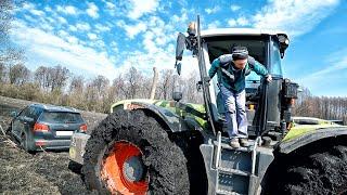 Тракторист такого не ожидал или трактор который не смог Рыбалка 2020