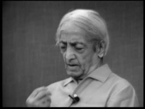 On Seeing And Listening | J. Krishnamurti