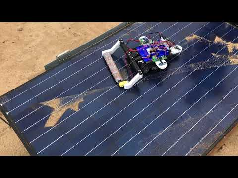 UCR Student-Designed Solar Panel Cleaning Robot (1)