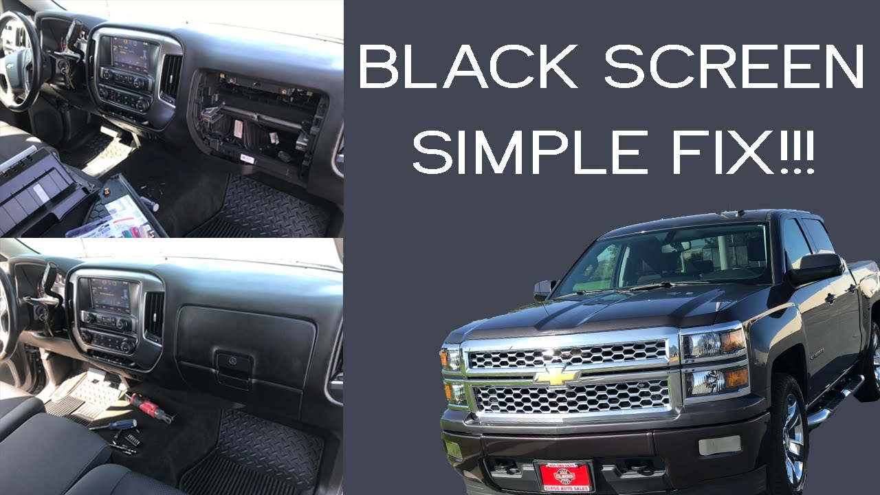How To Fix A 2014 Chevy Gmc Intellilink Black Screen Youtube