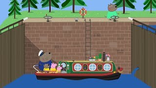 PEPPA GOES CANAL BOAT  Peppa Pig English Episodes Compilation