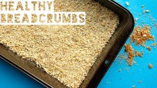 healthy breadcrumbs recipe   how to make homemade breadcrumbs