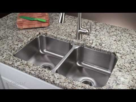 how-to-install-a-stainless-steel-undermount-kitchen-sink-|-moen-installation