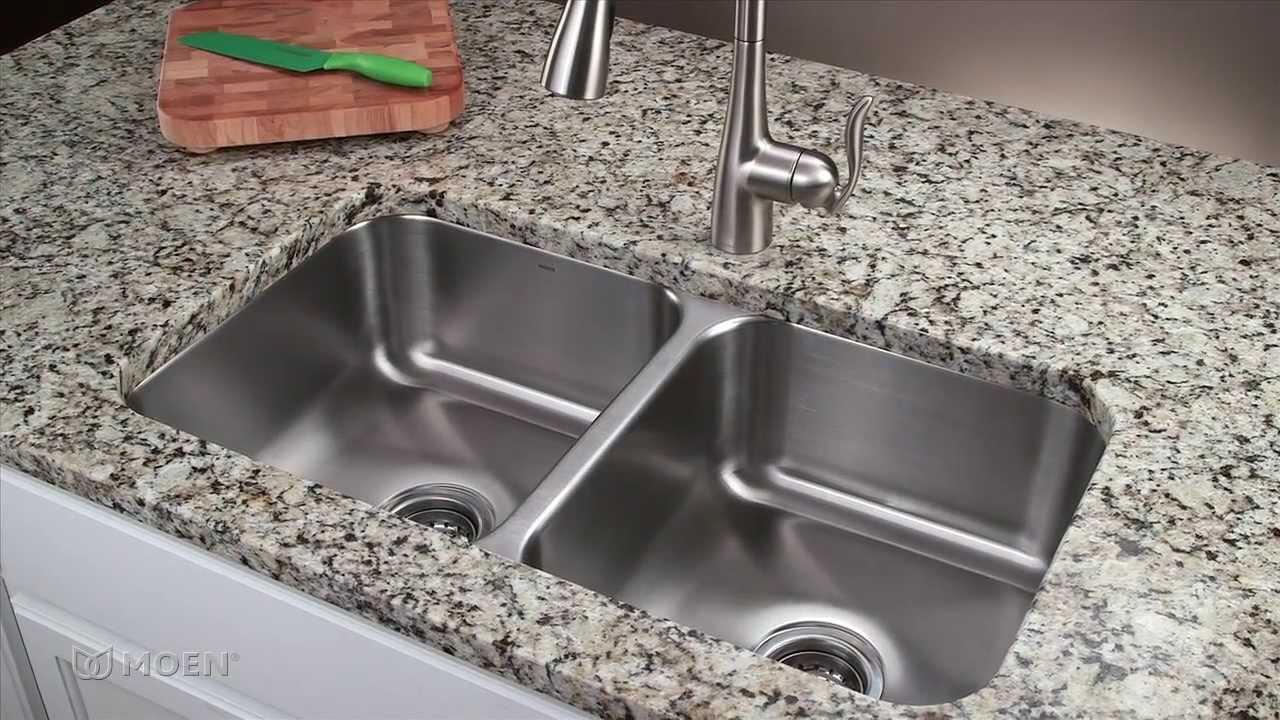 how to install a stainless steel undermount kitchen sink moen installation