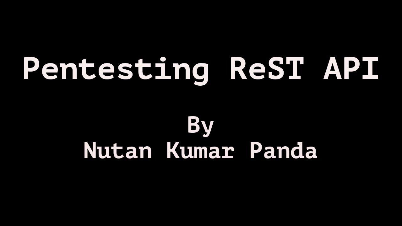 Pentesting ReST API