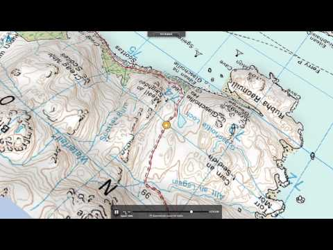 West Knoydart walk route