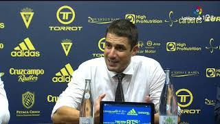 Rueda de prensa de Julio Velázquez tras el Cádiz CF vs AD Alcorcón (0-0)