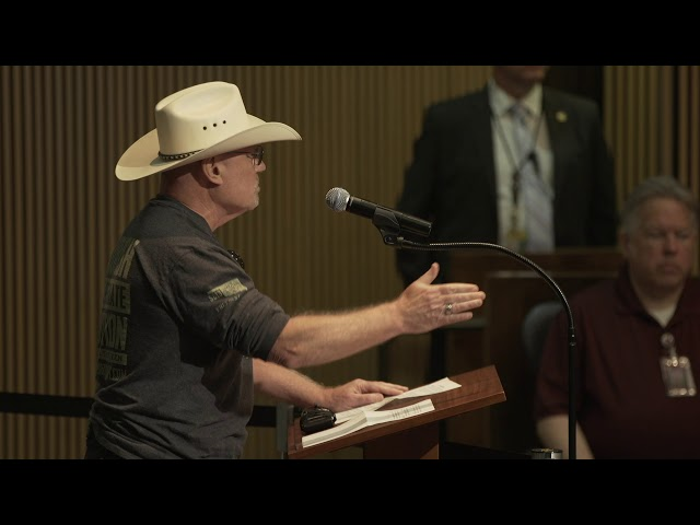 Cowboy Before the City Council