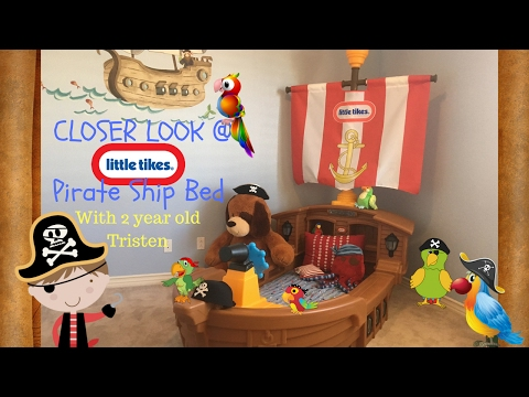 Little Tikes Toddler Pirate Ship Bed Review | Tristen's Toy Show