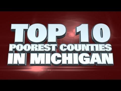 Top 10 Poorest Counties In Michigan 2014