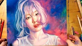 Drawing TaeYeon, SNSD 소녀시대 태연 - Butterfly Kiss Concert Poster