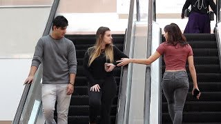 HAND TOUCHING ON ESCALATOR PRANK