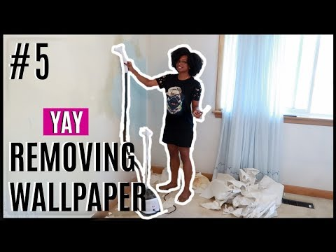 JOURNEY TO HOME #5 | TAKING DOWN WALLPAPER | MASTER BEDROOM RENOVATION