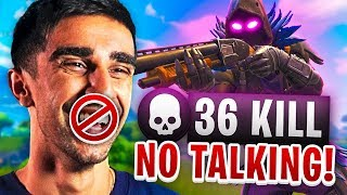 NO TALKING CHALLENGE in Fortnite Battle Royale (FUNNY)