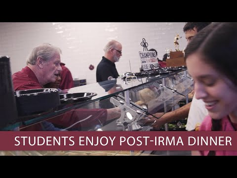 FSU students enjoy post-Irma dinner at the Champions Club