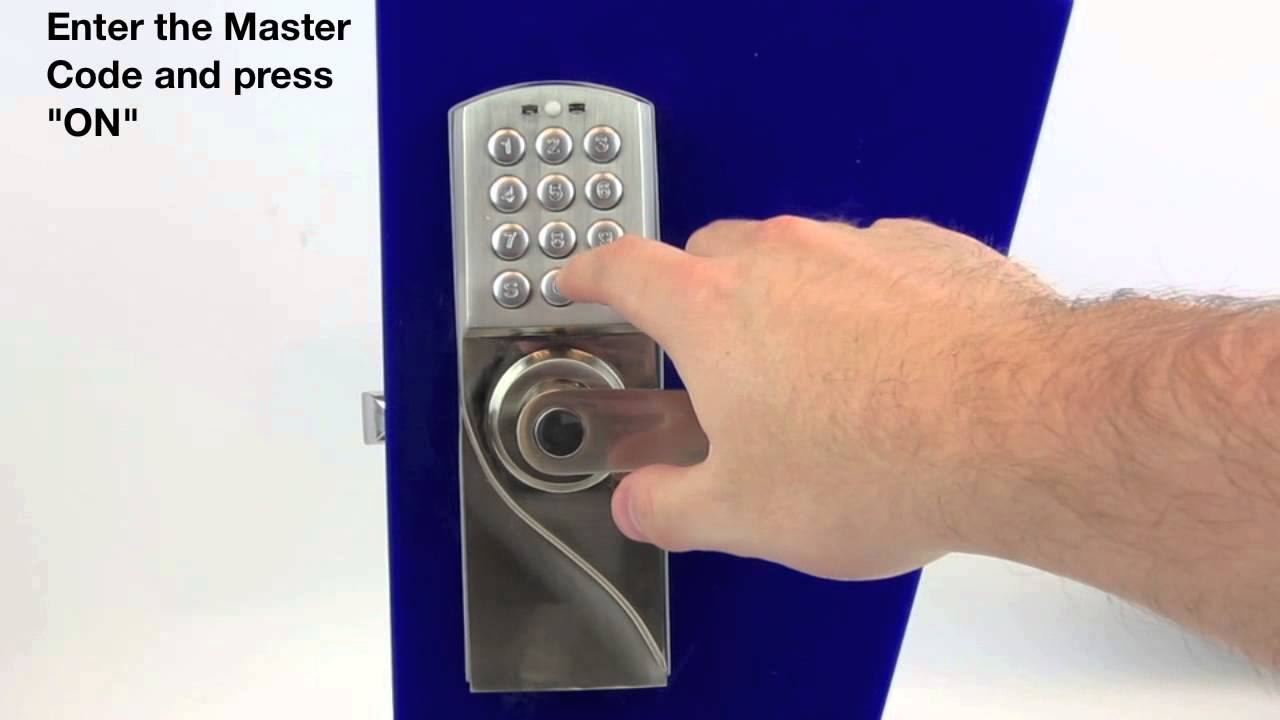 Digital Combination Password Door Lock Youtube