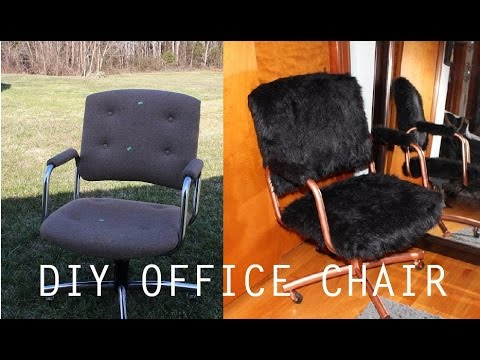 desk chair diy leather and ottoman sets simple faux fur office youtube