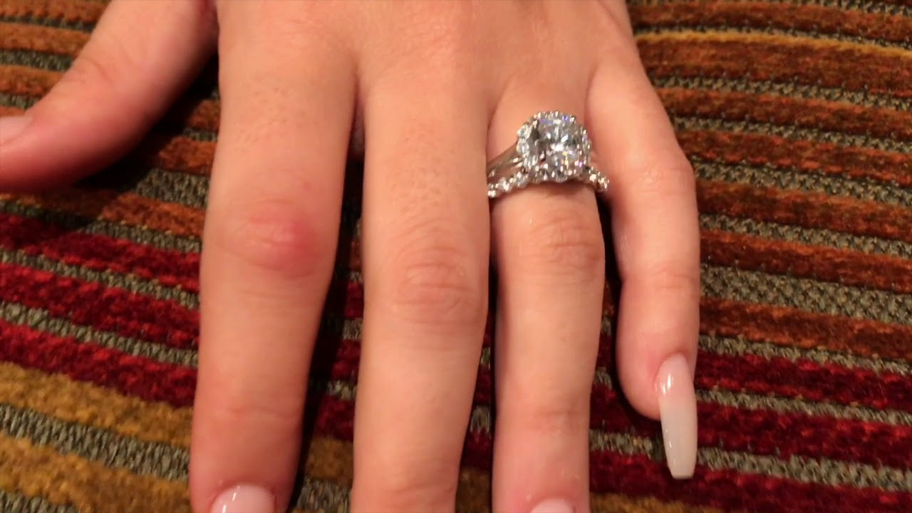 09f61a1f6 Platinum Wedding Ring With High Quality Cubic Zirconia and Wedding Band