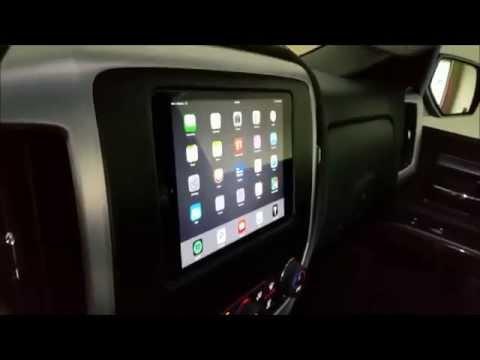 IPad Mini 3 Installed In Dash Of 2014 GMC Sierra
