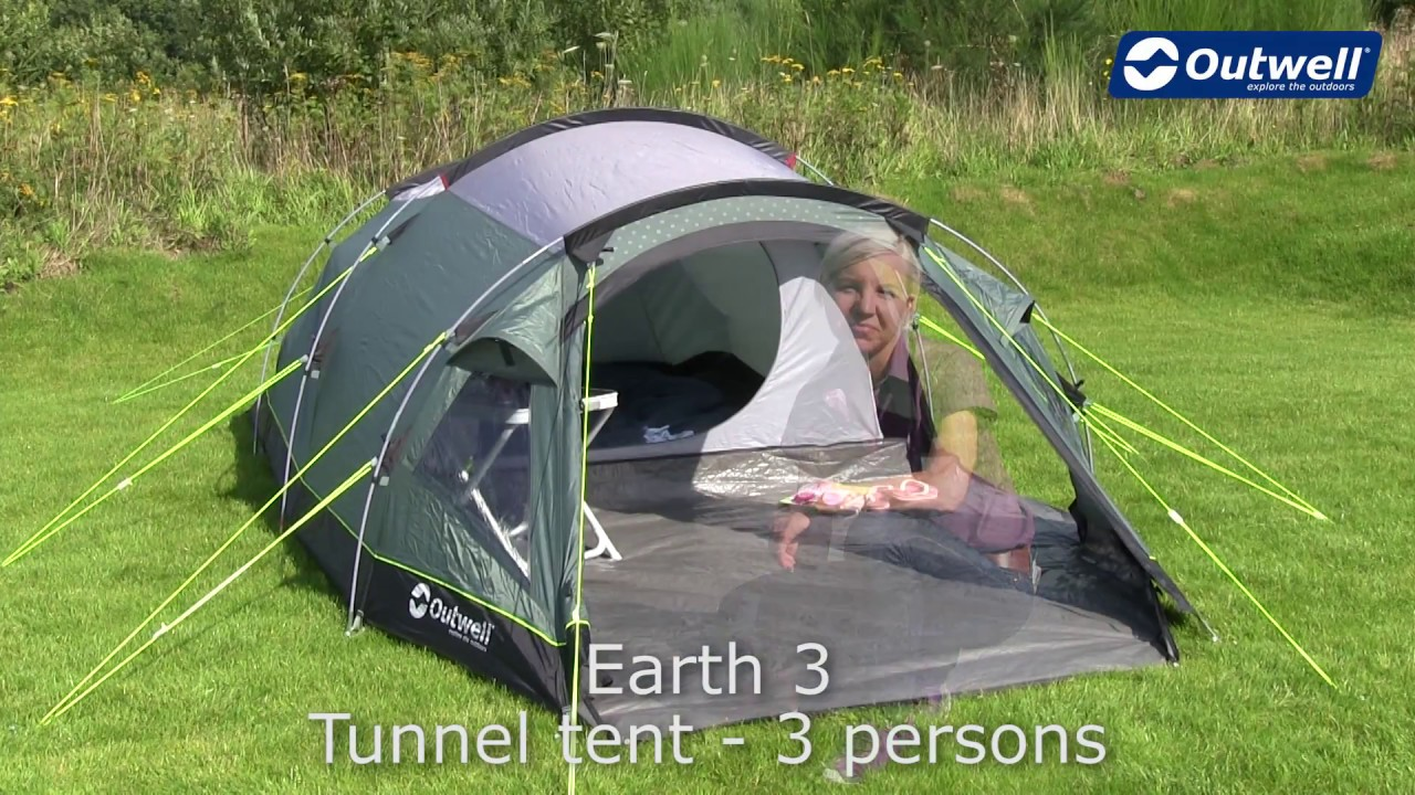 Outwell Earth 3 Tent | Innovative Family C&ing & Outwell Earth 3 Tent | Innovative Family Camping - YouTube