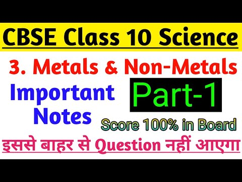 Science Notes Class 10 Chapter-3 Metals and Non-Metals Part-1 Free Regular  Coaching Classes |