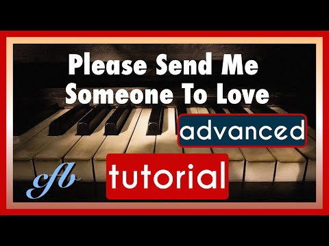 How to play PLEASE SEND ME SOMEONE TO LOVE on the piano in James Booker style