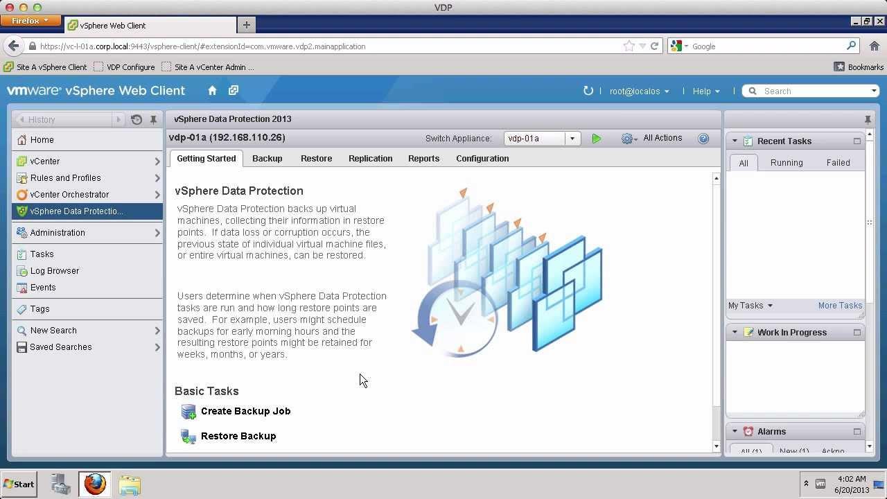 Vmware Vsphere Data Protection Creating Virtual Machine