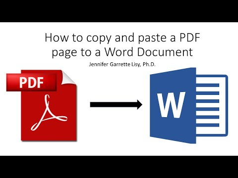 How To Copy And Paste PDF Pages Into Word Document