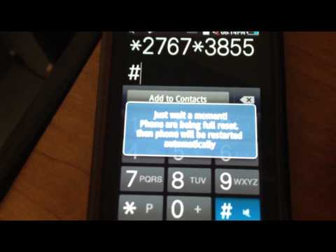 How to factory reset samsung wave