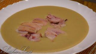 Гороховый суп-пюре с копченостями. Подробный рецепт приготовления.
