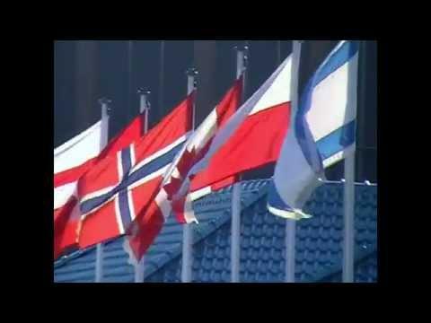 Polska Flaga W Bournemouth. Flag Of Poland In Bournemouth