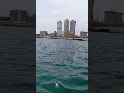 Rib ride through the Port City Colombo Marina