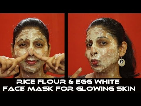 diy-:-rice-flour-&-egg-white-face-mask-for-glowing-skin-|-day-14-|-clear-skin-challenge