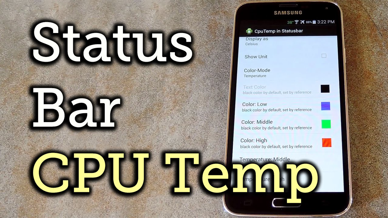 Monitor CPU Temperature from Android's Status Bar « Samsung