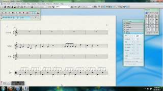 Basic Sibelius 6 Percussion Notation