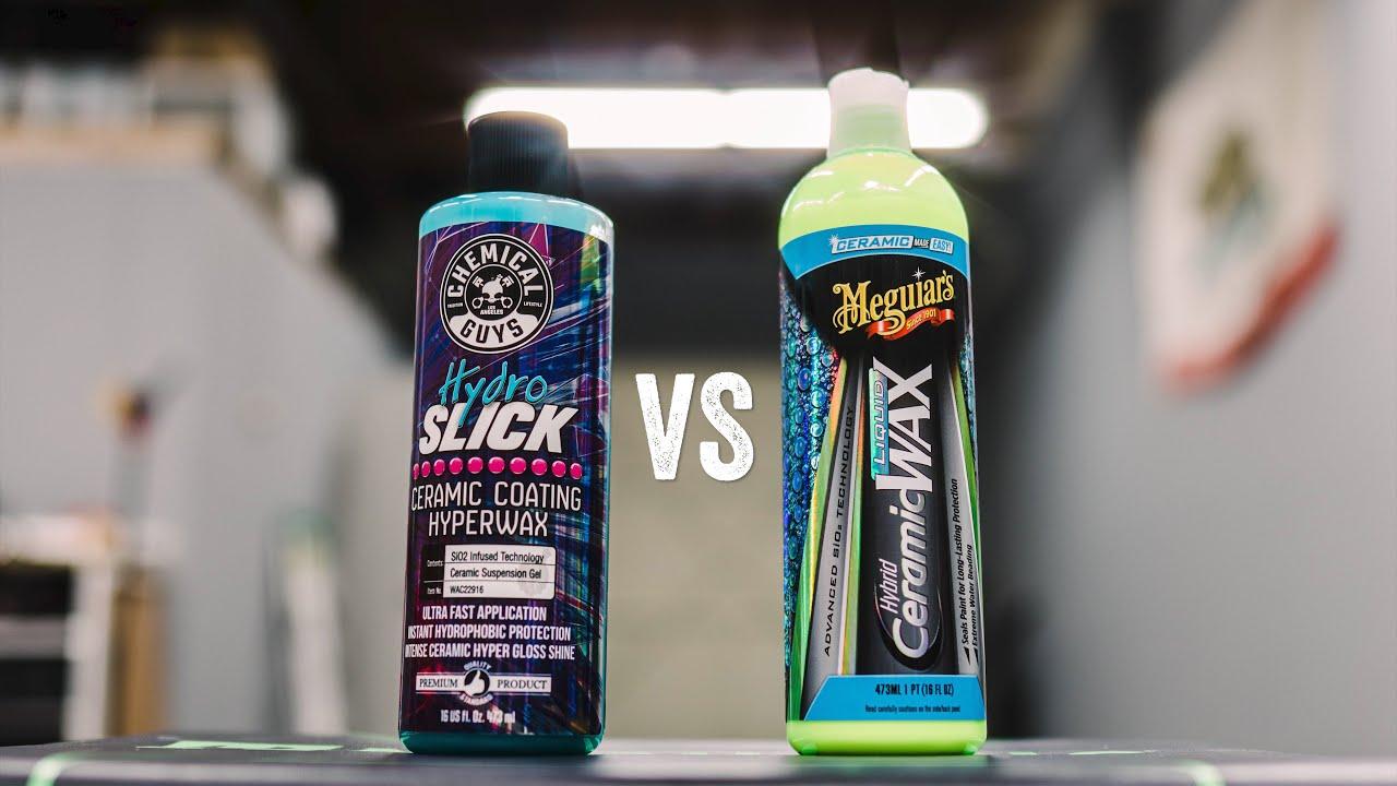 CHEAP VS EXPENSIVE:CHEMICAL GUYS HYDROSLICK VS MEGUIARS HYBRID CERAMIC LIQUID WAX: WHO YOU GOT?